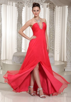 Coral Red Party Dresses