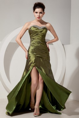 Olive Green Homecoming Dresses
