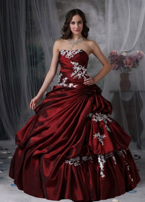 Burgundy Quinceanera Dresses