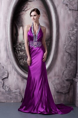 Eggplant Purple Pageant Dresses