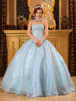 Light Blue Quinceanera Dresses