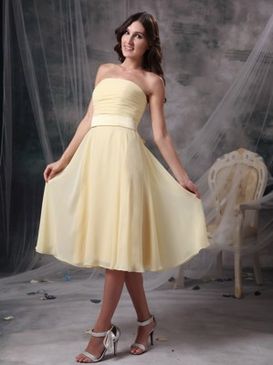 Light Yellow Bridesmaid Dresses