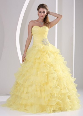 Light Yellow Quinceanera Dresses