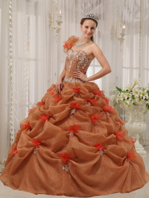 Rust Red Quinceanera Dresses