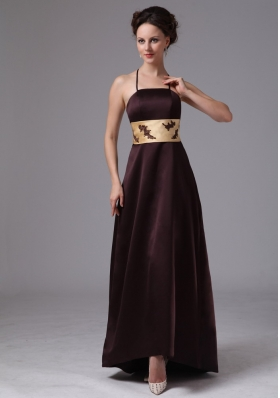 Spaghetti Straps Satin Mother Of The Bride Dress Burgundy