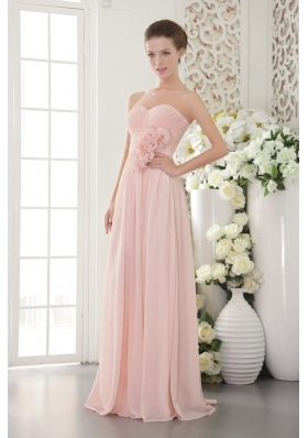 Pink Empire Floor-length Chiffon Prom Evening Dress