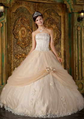 Champagne Color Quinceanera Dresses
