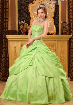 Ball Gown Taffeta Beading Dresses of 15