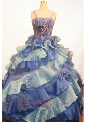 Ruffles Appliques Sweet Sixteen Dresses Straps for Pageants