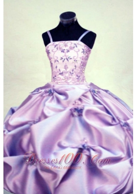 Girl Pageant Dresses Gorgeous Straps Beading Lilac