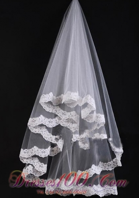 Romantic Popular Veil With Lace for Wedding