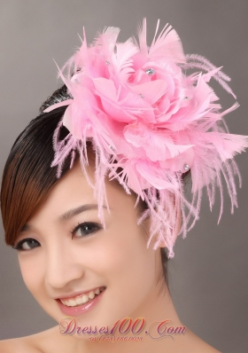 Feather Beaded Flower Headpieces for Wedding