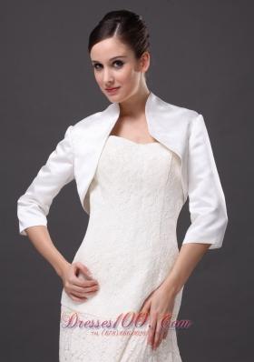 3/4 Sleeves High-neck Satin Popular Jackets 2013