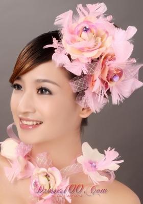 Cute Multi-color Feather Flower Wedding Headpieces