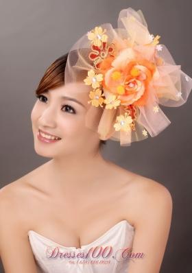 Net Yarn Bridal Hat Fascinators Beaded