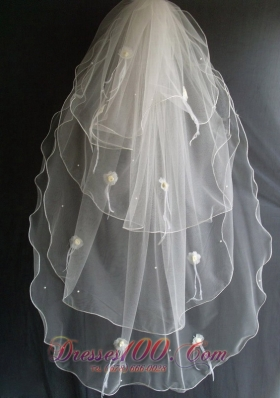 Flowers and Beading Decorate Popular Veils