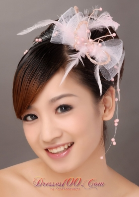 Popular Tulle Feather Wedding Hair Accessories