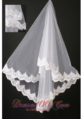 Graceful Popular Veils Boutique Lace Organza