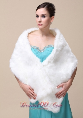 Faux Fur Special Wedding Shawl for Winter