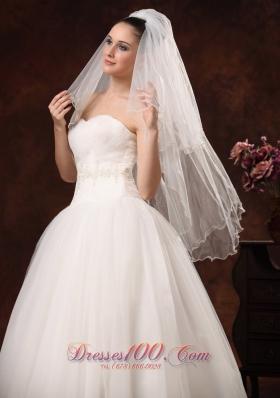 Graceful Wedding Veils Two-tiers Elbow
