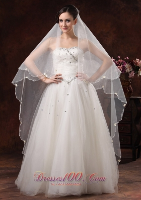 Discount Popular Veils for Wedding Two-tier