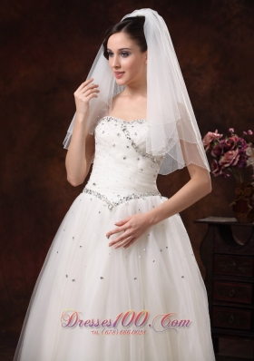 Graceful Wedding Veils Two-tier Tulle for Sale