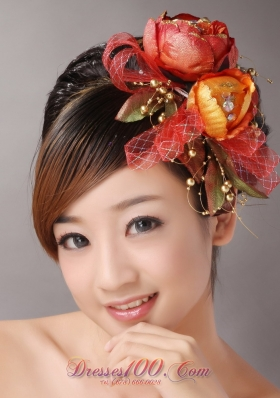 Colorful Flower Wedding Headpieces Vintage Style