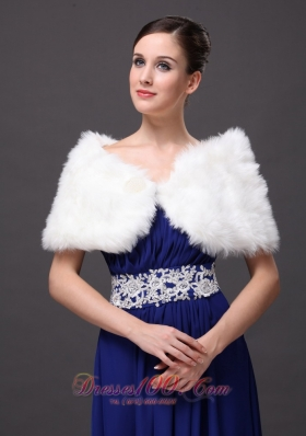 Front Closure Wedding Shawl Faux Fur for Cheap