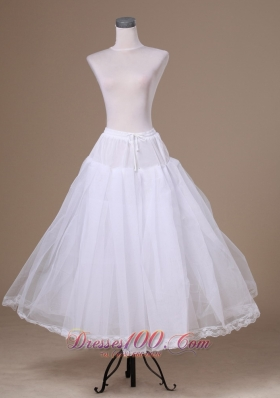 A-line Tulle Petticoat for Wedding Floor-length