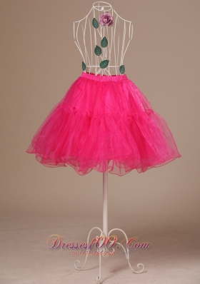 Perfect Hot Pink Petticoat Organza Mini-length