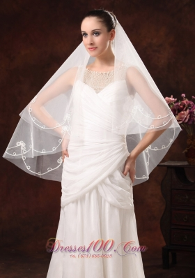 Discount Two-layers Popular Veil for Wedding