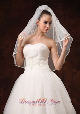 Beautiful Wedding Veil Two-Layers Elbow Length
