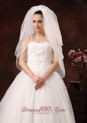 Three-tier Veil for Wedding Organza On Sale