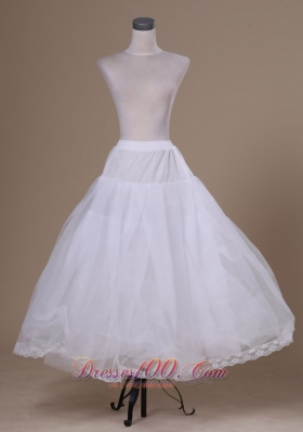 Ankle-length White Hot Selling Tulle Petticoat