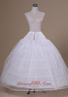 Ball Gown Floor-length Petticoat in White Tulle