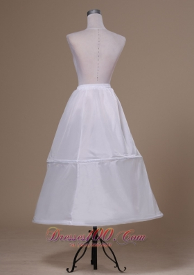 Taffeta Ankle-length White Petticoat for Prom