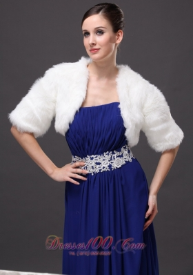 Exquisite V-neck Wedding Party Prom Jacket Half-sleeves