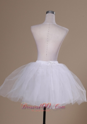 Mini-length White Tulle Prom or Cocktail Petticoat