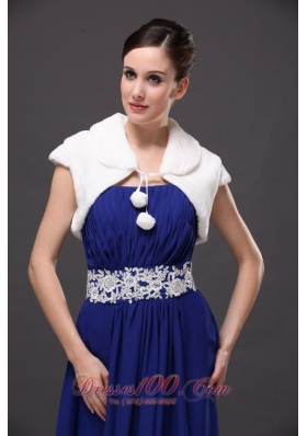 White Affordable Wedding V-neck Prom Wedding Party Jacket