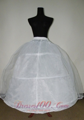 Petticoat for Ball Gowns with White Tulle and Organza