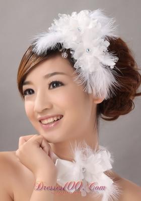 Beautiful Wedding and Outdoor Organza Bridal Hair Pieces