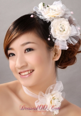 Cheap Bridal Accessories Tulle and Imitation Pearls