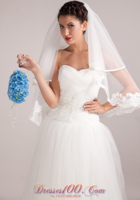 Pretty Blue Wedding Flowers with Pearl On Sale