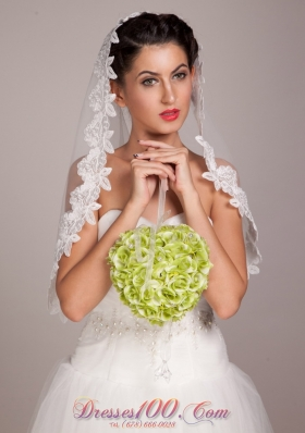 Spherical with Pearl Green Wedding Bridal Bouquet