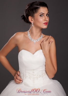 Imitation Pearl Jewelry Set including Necklace Earrings