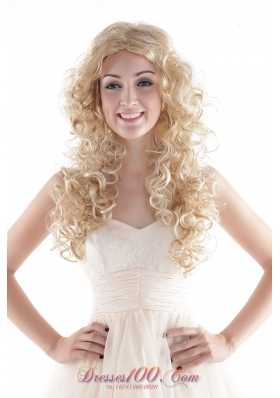 Wavy Hair Wig in Blonde Long High Quality Synthetic