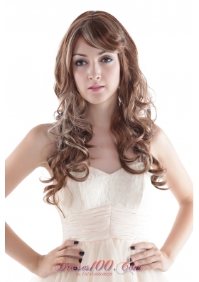 Synthetic Mixed Color Extra Long Curly Hair Wig
