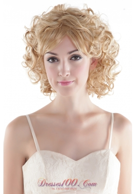 Blonde High Quality Synthetic Hair Wig Short Curly