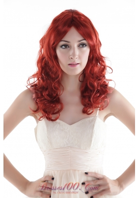 Top Grade Quality Hair Wig Red Long Synthetic Curly