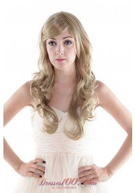 Blonde Curly Extra Long Top Synthetic Hair Wig